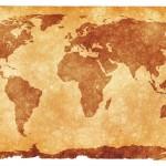 Wereldkaart sepia