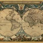 wereldkaart oud